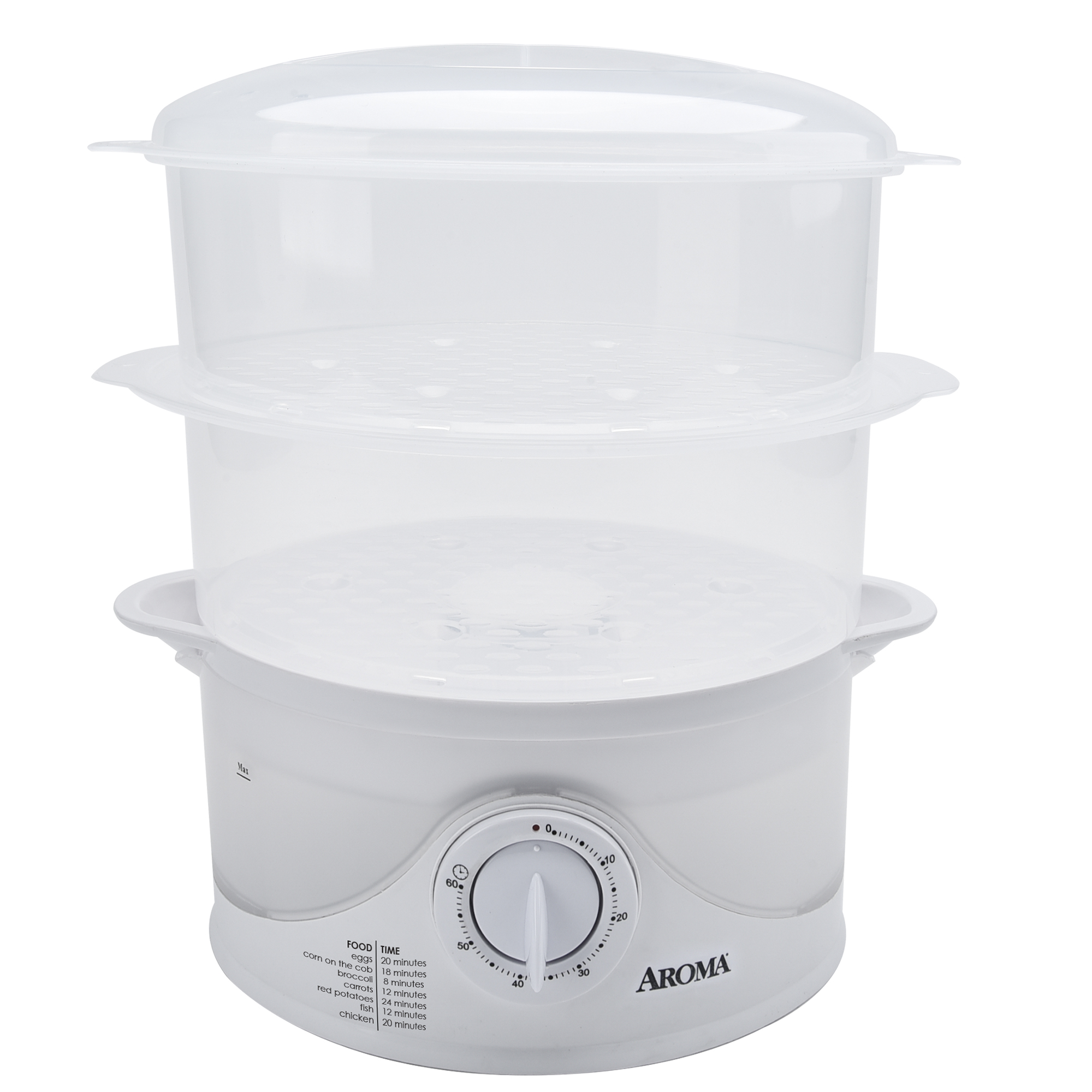 Aroma 6 Quart Dishwasher Safe Food Steamer 4 Piece Walmartcom