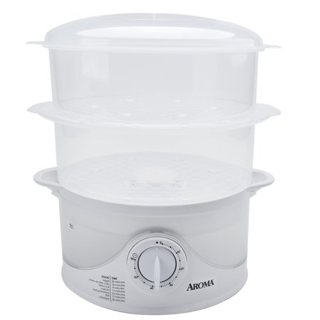 Aroma 6 Quart Dishwasher Safe Food Steamer, 4