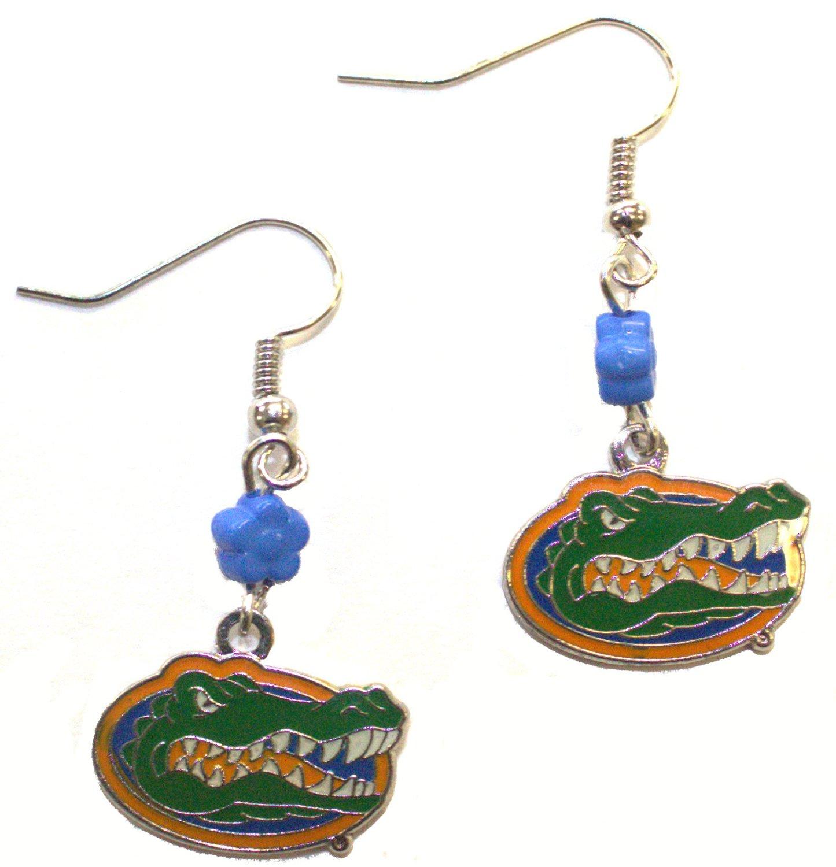 NCAA Officially Licensed Florida Gators Flower Style Dangle Earrings