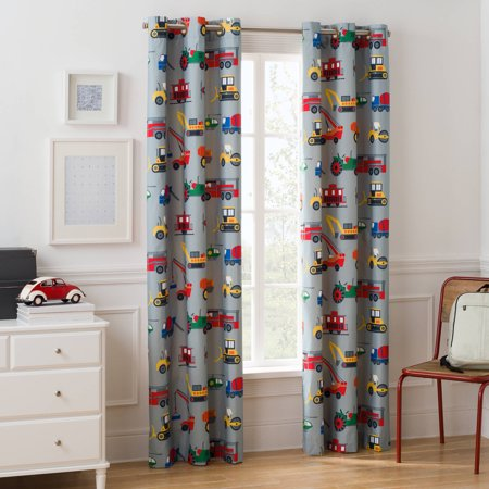 Mainstays Grommet Room Darkening Transportation Kids Bedroom Curtain ...
