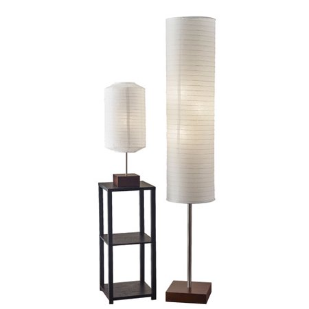 Adesso gyoza 2 piece table and floor lamp set walmartcom for Table lamp sets under 50