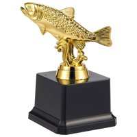Fishing Trophy - Gold Award Trophy For Fishing Tournaments, Competitions, Parties, 3 X 5 X 3 Inches