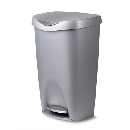 Umbra Brim 13 Gallon Trash Can with Lid and Stainless Steel Foot Pedal