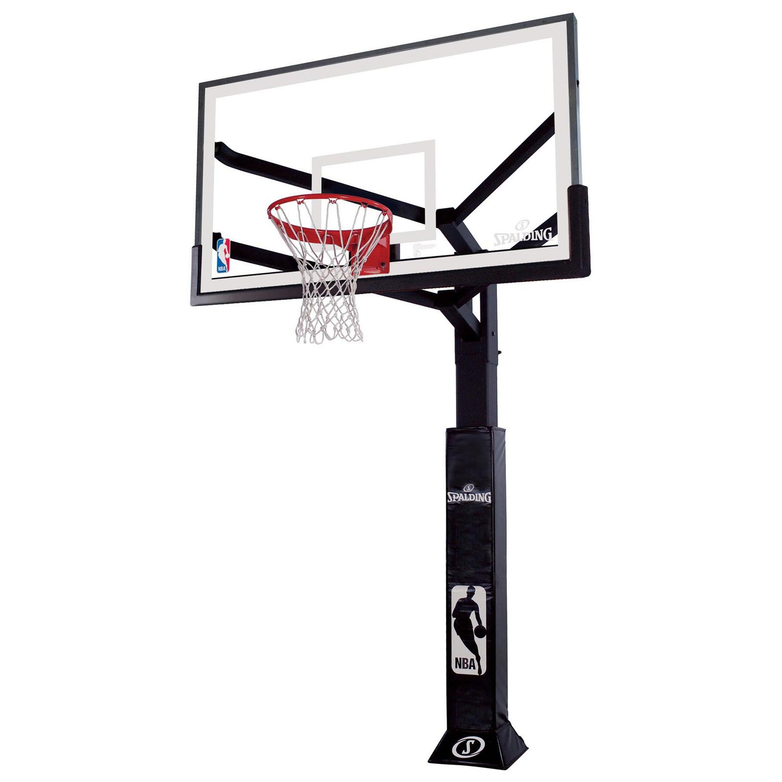 "Spalding 86604AGP Arena View 60"" Glass In-Ground Basketball System"