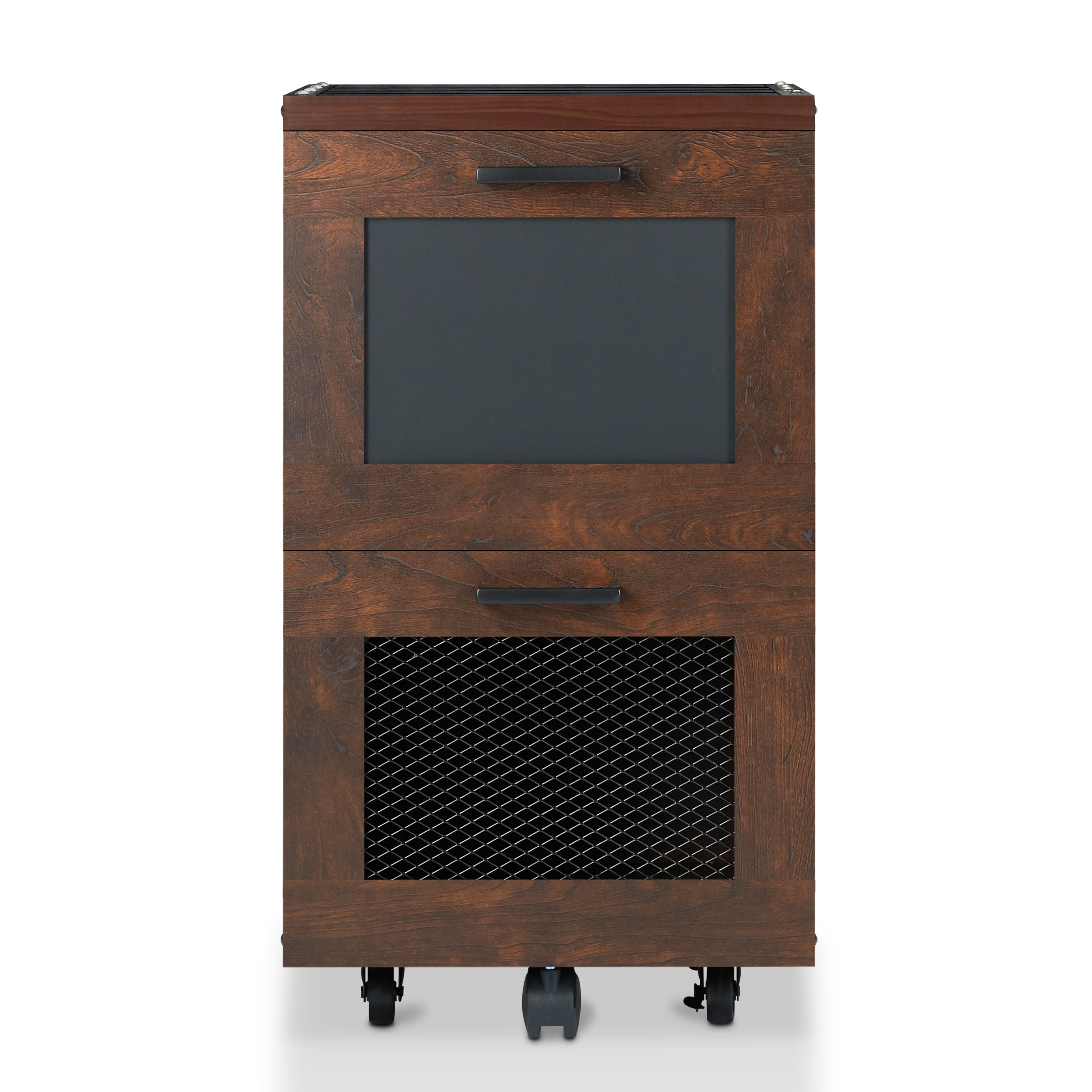 PREMIUM Tayler Rustic Vintage Walnut 2-drawer File Cabinet-NEW