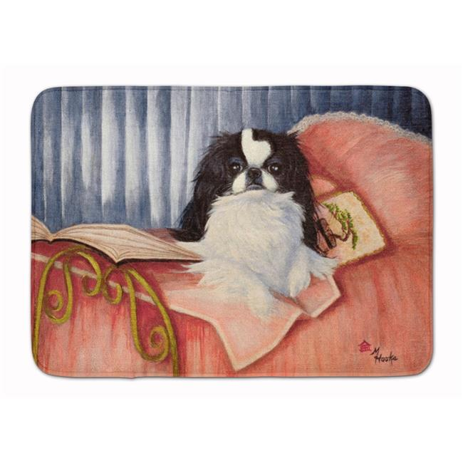 Japanese Chin Reading in Bed Machine Washable Memory Foam Mat