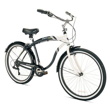 Oakwood Men's 26 Inch White Wall Tire Cruiser Bike with 7 Speed Gear Shift (Cruiser Bikes 7 Speed)