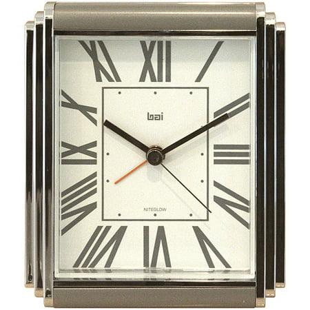 Bai Westchester Chrome-Plated Alarm Clock, Roma Regency Clock Plate