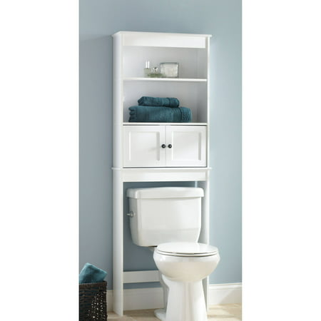 Chapter Bathroom Space Saver, - White Bathroom Space Saver