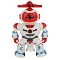Dancing Action Toy Robot Figure w/ Music, Colorful Rotating Lights, Dancing Action, 360 Degree Spins! Great Birthday Present for Kids, Children! (