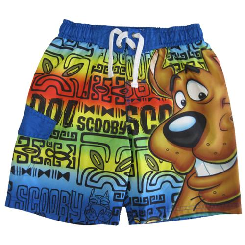 Scooby Doo Little Boys Rainbow Color Character Printed Swim Wear Shorts 4T-7