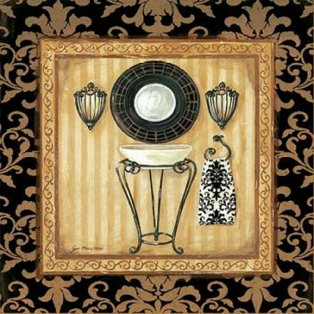 Image of Black Veranda Bath II Canvas Art - Jo Moulton (24 x 24)