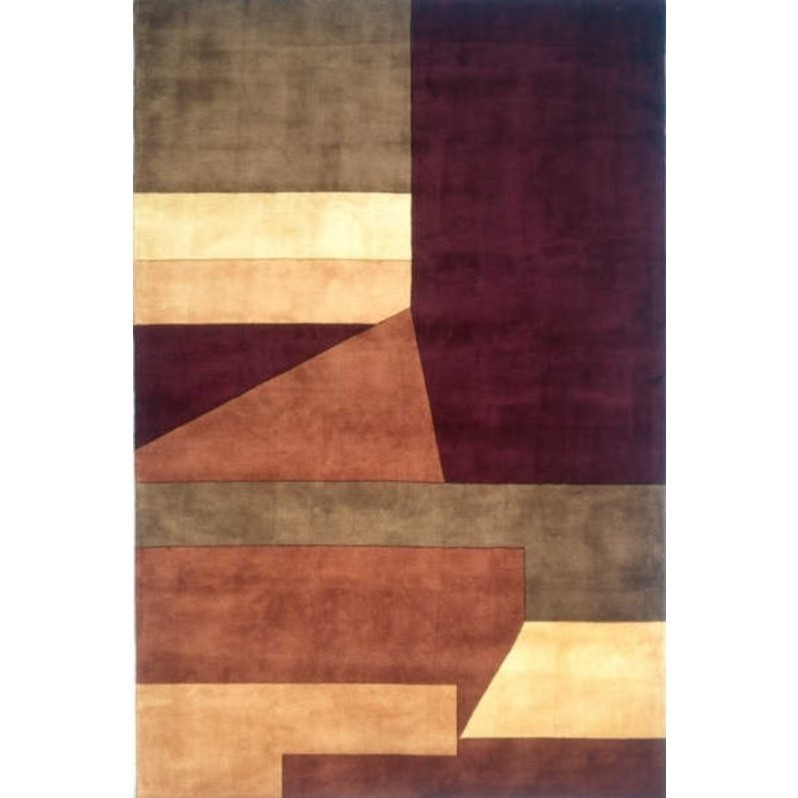 "Momeni New Wave 2'6"" X 12' Runner Rug in Wine - image 4 of 4"