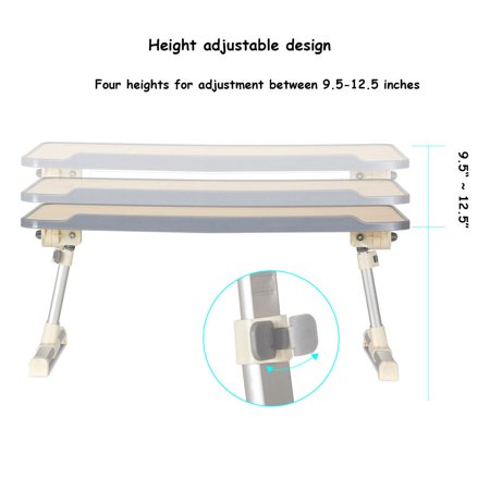 Portable Lap Desk Folding Lazy Laptop Computer Table Adjustable Bed Tray Stand - image 4 of 10