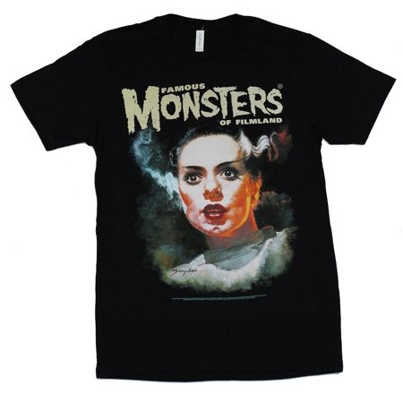 Famous Monsters of Filmland Mens T-Shirt - Bride of Frank Image (X-Large)