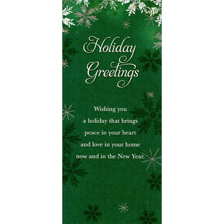 Designer Greetings Holiday Greetings: Snowflakes on Deep Green - Package of 8 Christmas Money / Gift Card Holders ()