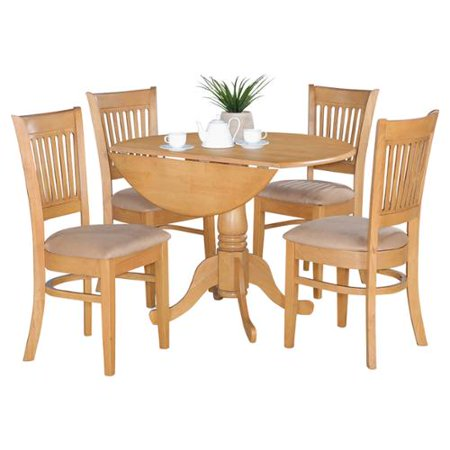 Kitchen Dinette With Drop Leaf Table  Chairs