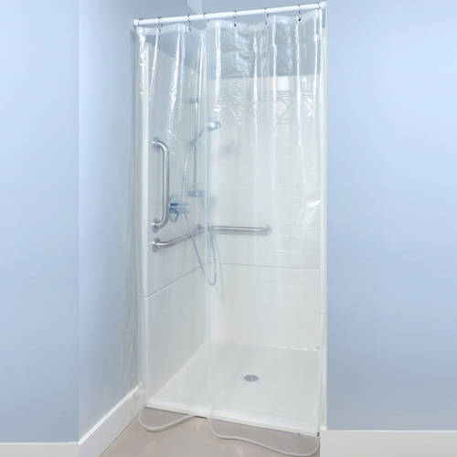SlipX Solutions 54 in. x 78 in. Midweight PEVA Shower Stall Liner