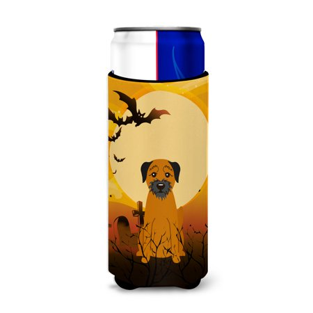 Halloween Border Terrier Michelob Ultra Hugger for slim cans BB4305MUK - Halloween Corner Borders