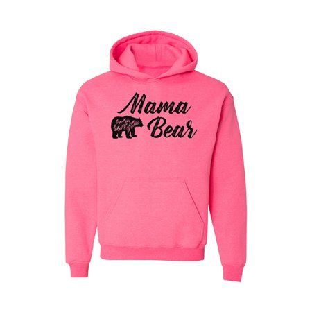 Mama Bear - Protects Her Cubs Unisex Hoodie Mother's Day Cuddly - Bear Hoodie