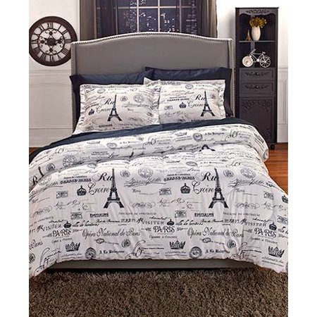 Vintage Paris Comforter Set Twin ()