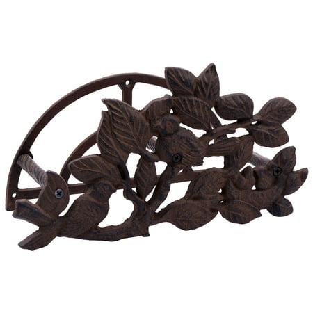 Garden Hose Holder - Birds In Bush - Cast Iron - 12.5