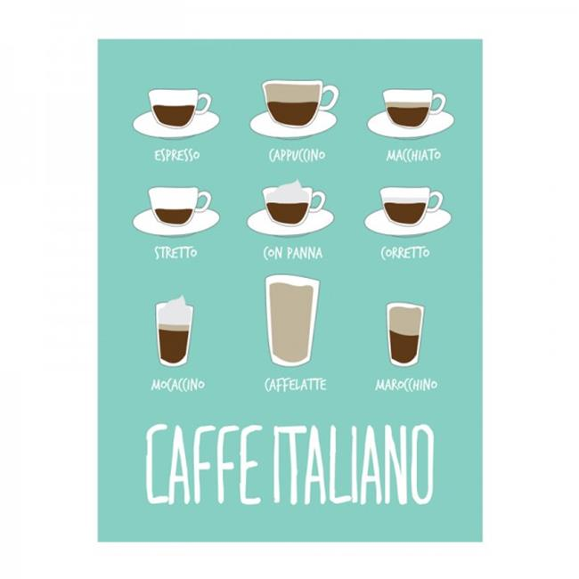 Thats Italia THCV23 Canvas Dishcloth Caffe Italiano, 27. 6 x 19. 7 inch