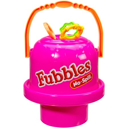 Little Kids Fubbles No-Spill Big Bubble Bucket, Pink - Pink Bubbles