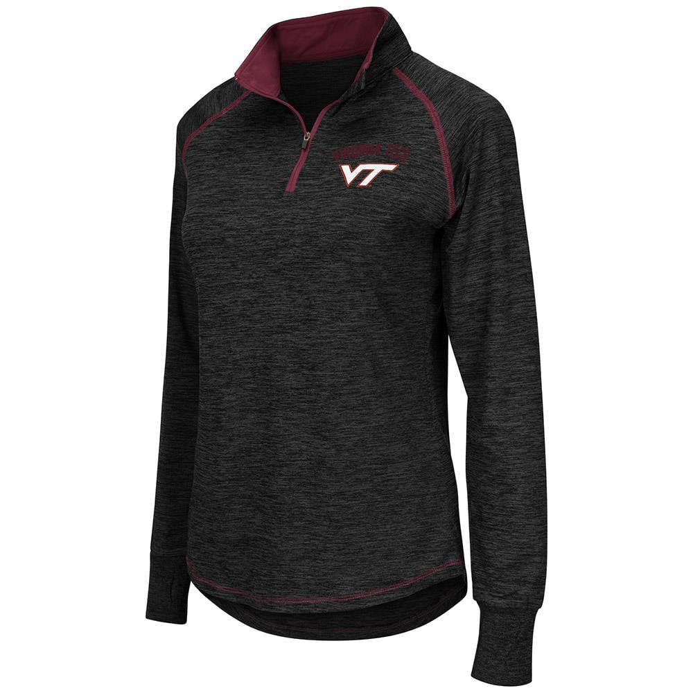 Womens Virginia Tech Hokies Quarter Zip Wind Shirt - S