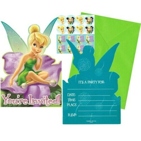 Disney Fairies Tinkerbell Girls Birthday Party Invitations 16 Count Save the Date Stickers](Tinkerbell Party)
