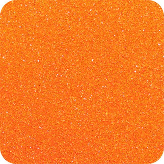 Sandtastik CS2809 Classic Colored Sand 28 oz. Bottle - Shake & Pour Lid - Orange