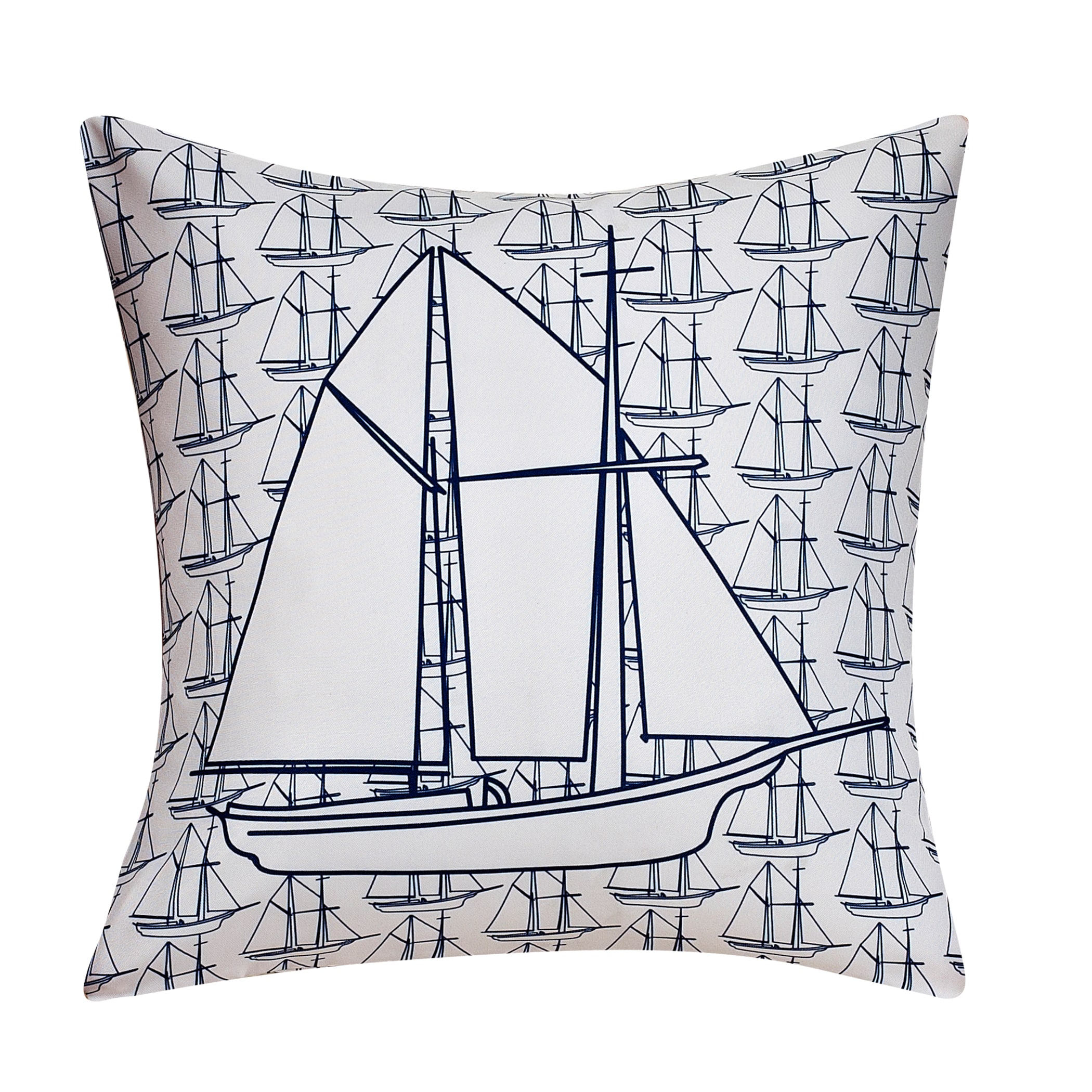 cathay home Swift Home Collection Fun Decorative Throw Pillow-boat