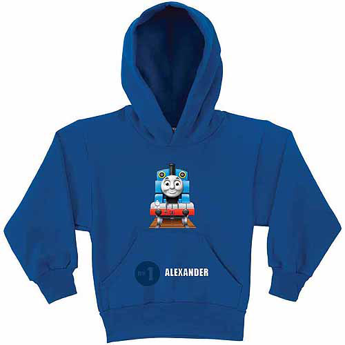 Personalized Thomas and Friends No. 1 Boys' Royal Blue Hoodie