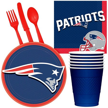 NFL New England Patriots Tailgate Party Pack (For 16 - Nfl Party