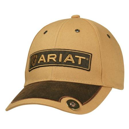 Ariat Men's Brown Stitched Signature Logo Cap Tan OS ()