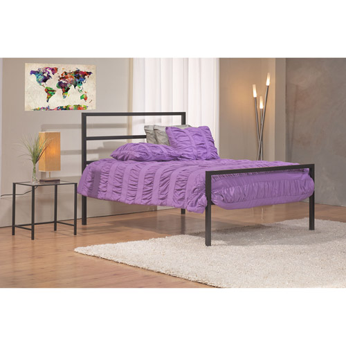mainstays queen parsons bed black