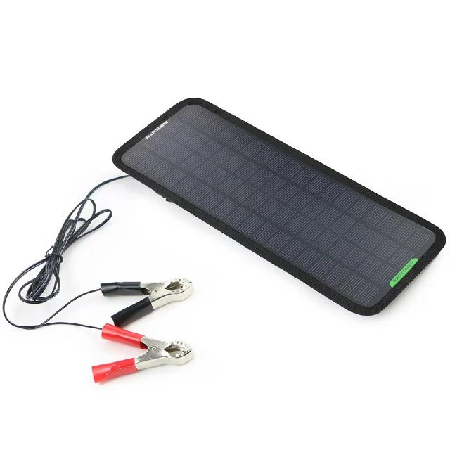 ALLPOWERS Solar Panel Power 18V 5W Smart Portable Battery Charger Sunpower Backup for Car/RV Boat Automobile Autobike Maintainer