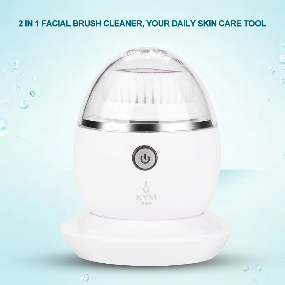 Aramox Ultrasonic Facial Brush Cleaner Electric Face Pore Cleansing Spa Skin Care Ultrasound Massager , Electric Face Brush, Pore Cleaning Brush