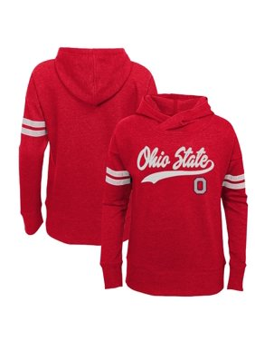 Girls Youth Scarlet Ohio State Buckeyes Terry Fleece Pullover Hoodie