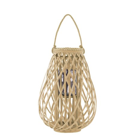 Brass Lantern Collection (Urban Trends Collection: Bamboo Lantern Natural Finish )