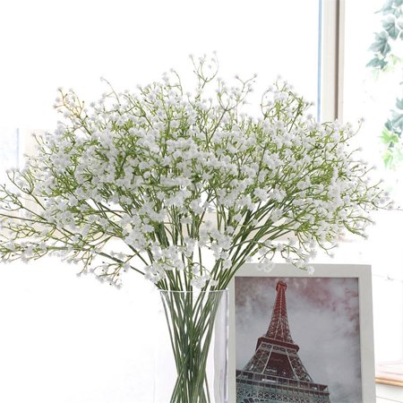 1Pc Artificial Silk Baby's Breath Gypsophila Flowers Bouquet Home Wedding Decor ()