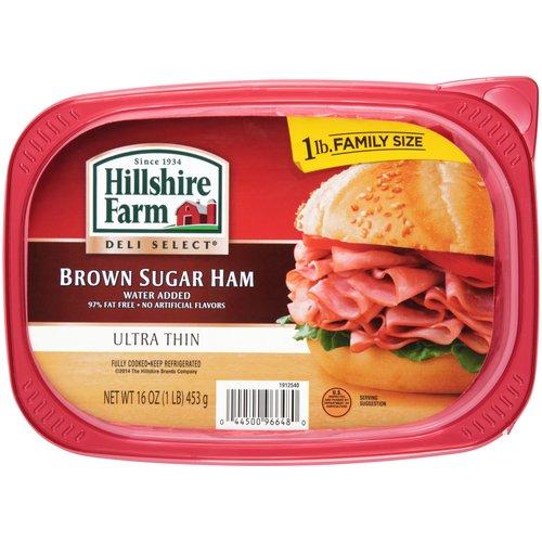 Hillshire Farm Deli Select Ultra Thin Brown Sugar Ham, 16 oz