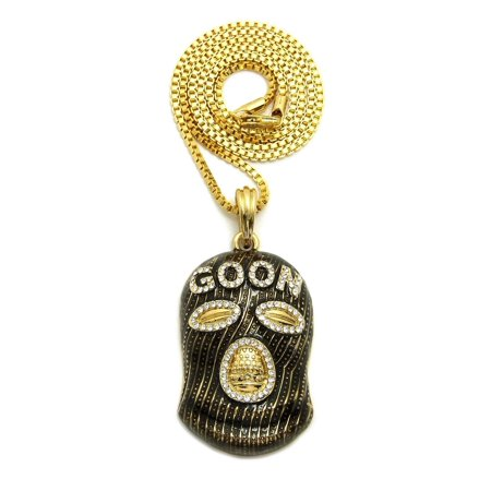 Unique Fashion 21 Hip Hop Goon Ski Mask Man Pendant 2mm 24