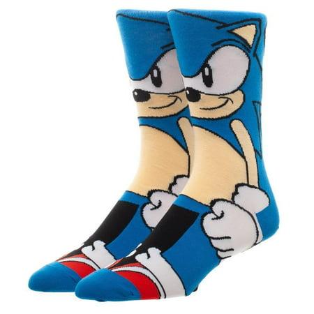 Sonic The Hedgehog 360 Men's Blue Crew Socks (Sonic Socks)