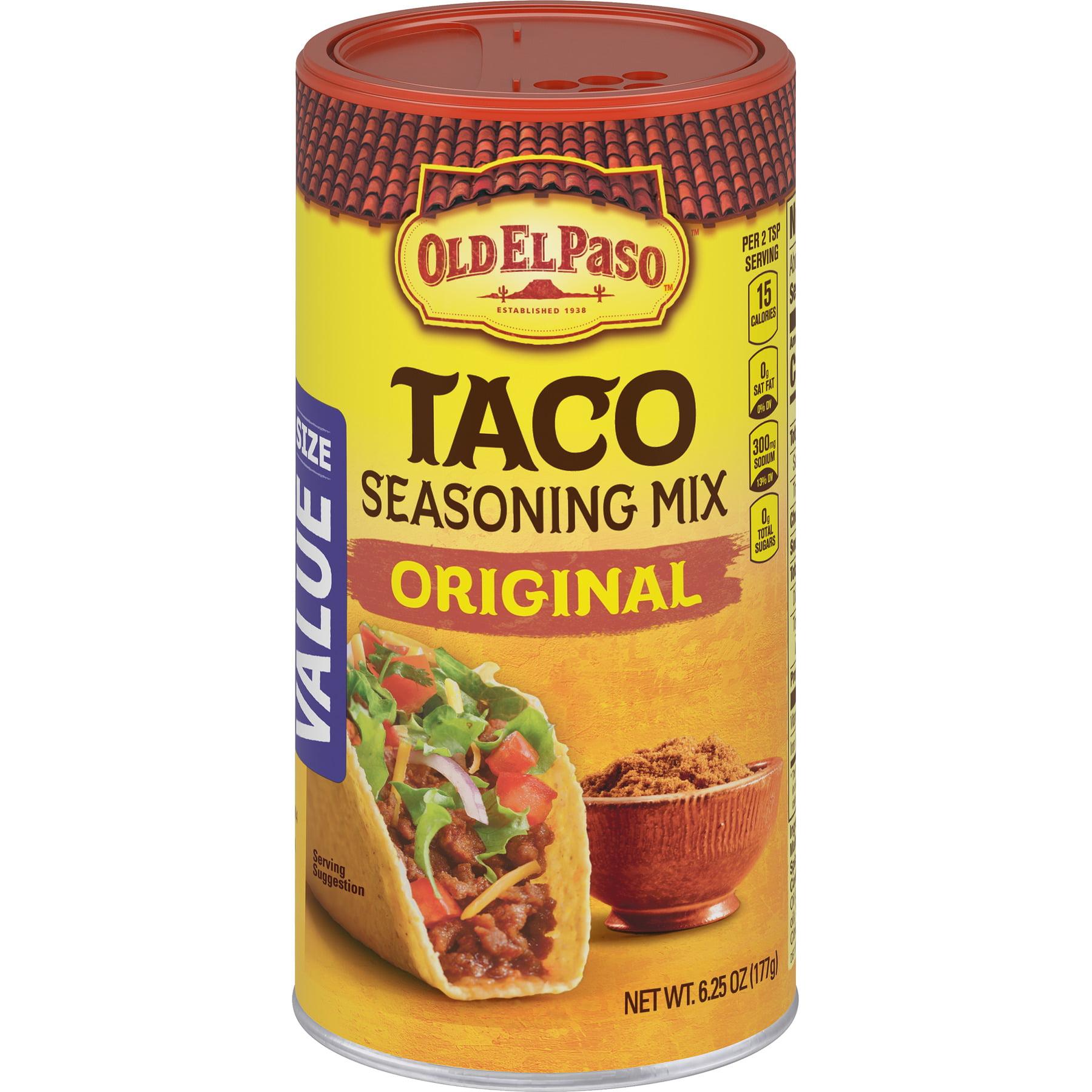 Old El Paso Taco Original Seasoning Mix, Value Size, 6.25 oz