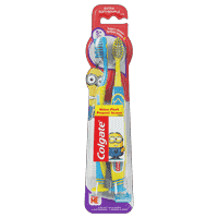 Colgate Kids Extra Soft Toothbrush with Suction Cup - 2 Count (Minions)