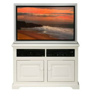 40 in. Wide-Screen TV Cart in Painted Finish (Soft White)
