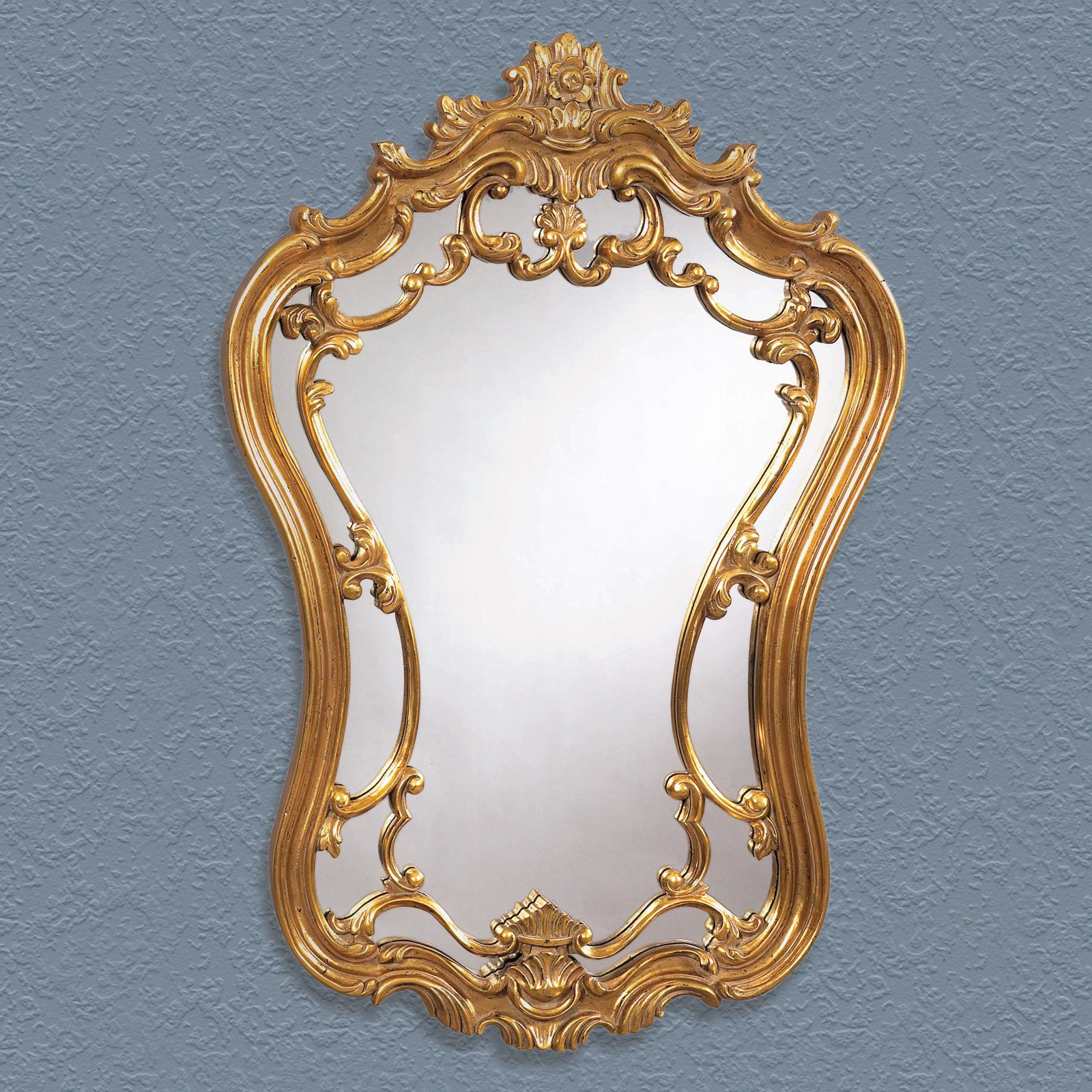 Antique Gold Ornate Arched Wall Mirror - 24W x 35H in.