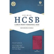 HCSB Large Print Personal Size Bible, Pink LeatherTouch