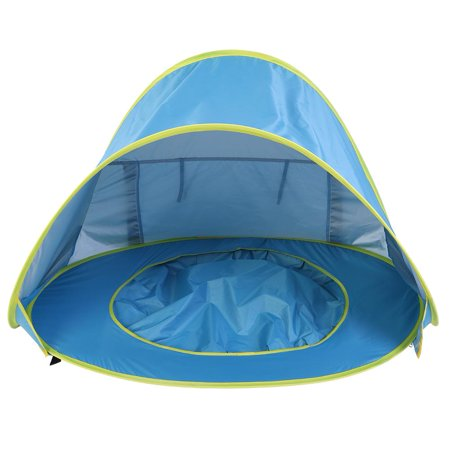 Image of Tebru Baby Beach Tent, Baby Tent, Portable Infant UV Protection Baby Beach Tent Waterproof Shade Pool Sun Shelter